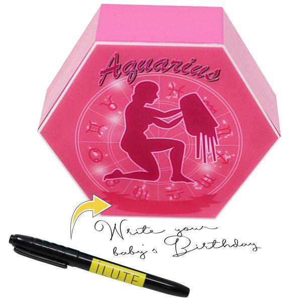 Led lighting Zodiac Sign Aquarius - color Pink - Girl