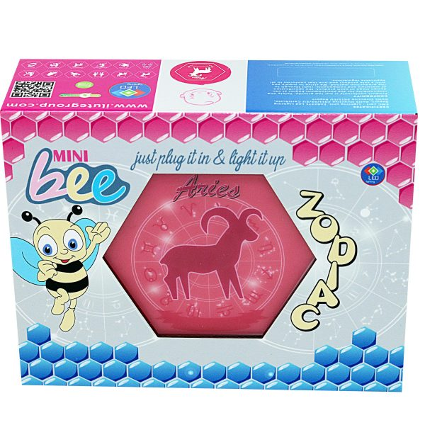 Led lighting Zodiac Sign Aries - color Pink - Girl