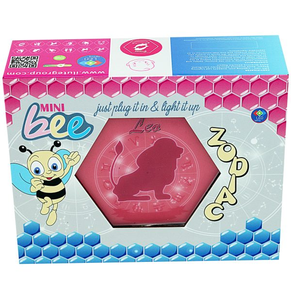 Led lighting Zodiac Sign Leo - color Pink - Girl
