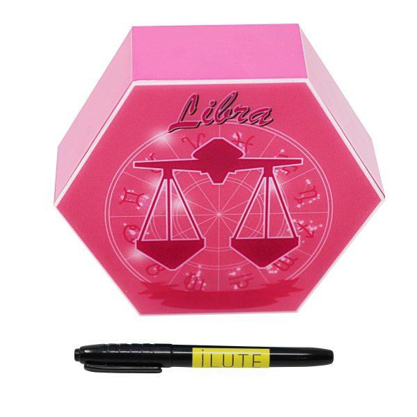 Led lighting Zodiac Sign Libra - color Pink - Girl