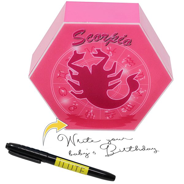 Led lighting Zodiac Sign Scorpio - color Pink - Girl