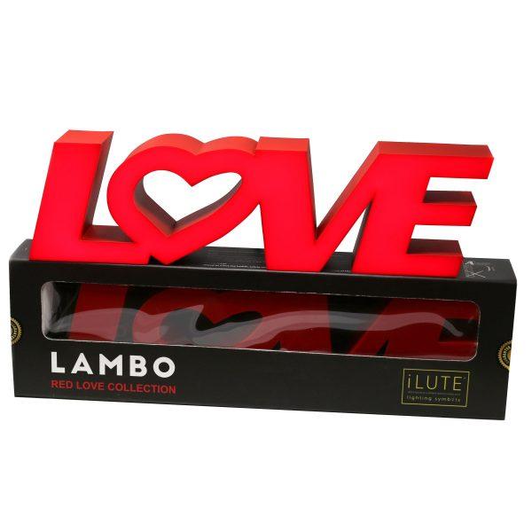 Led lighting symbol Red Love