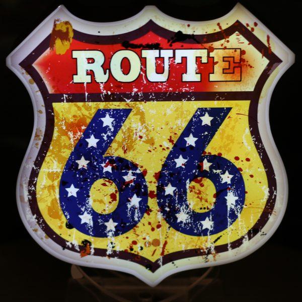 Led lighting symbol Route 66