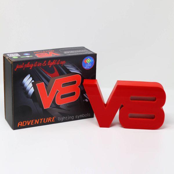 Led lighting symbol V8 red