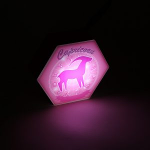 Led lighting Zodiac Sign Capricorn - color Pink - Girl