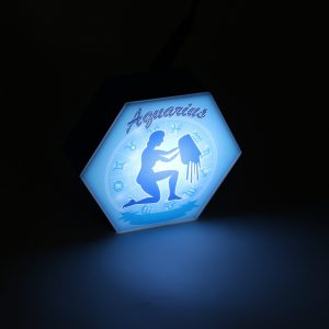 Led lighting Zodiac Sign Aquarius - color Blue - Boy