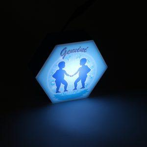 Led lighting Zodiac Sign Gemini - color Blue - Boy