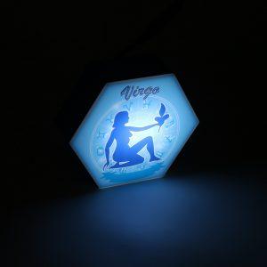 Led lighting Zodiac Sign Virgo - color Blue - Boy