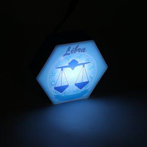 Led lighting Zodiac Sign Libra - color Blue - Boy