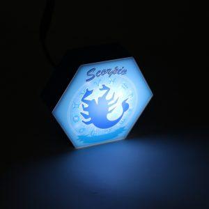 Led lighting Zodiac Sign Scorpio - color Blue - Boy