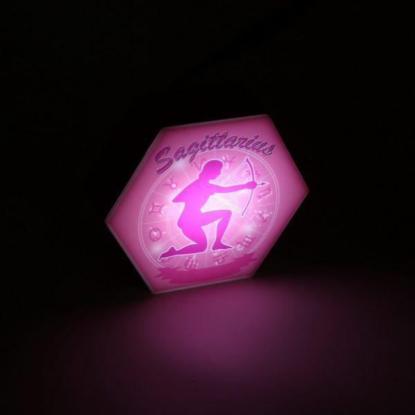 Led lighting Zodiac Sign Sagittarius - color Pink - Girl