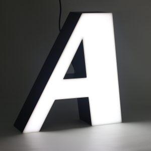 Led lighting letter A