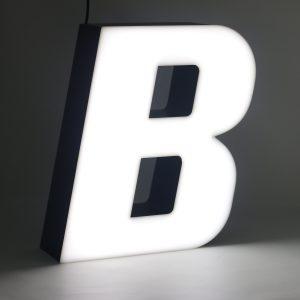 Led lighting letter B