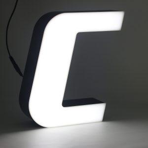 Led lighting letter C