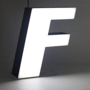 Led lighting letter F
