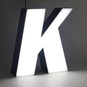 Led lighting letter K