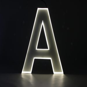 Quizzy Neon Style letter A