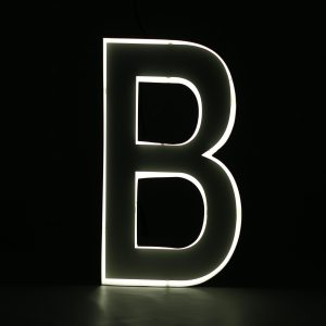 Quizzy Neon Style letter B