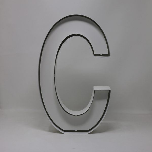 Quizzy Neon Style letter C