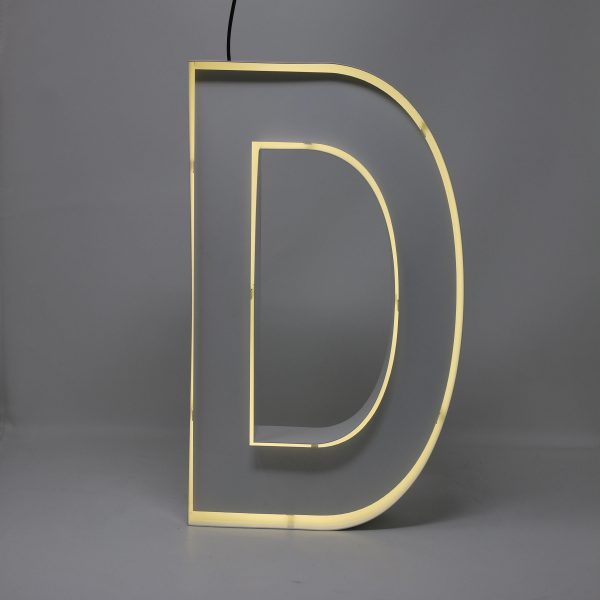 Quizzy Neon Style letter D