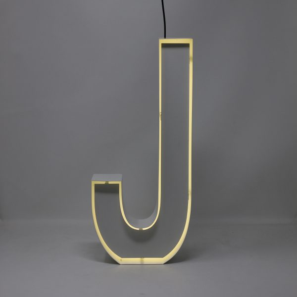 Quizzy Neon Style letter J