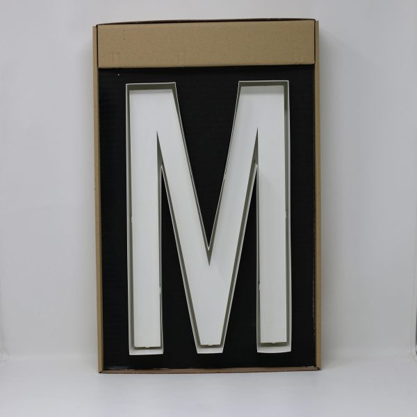 Quizzy Neon Style letter M