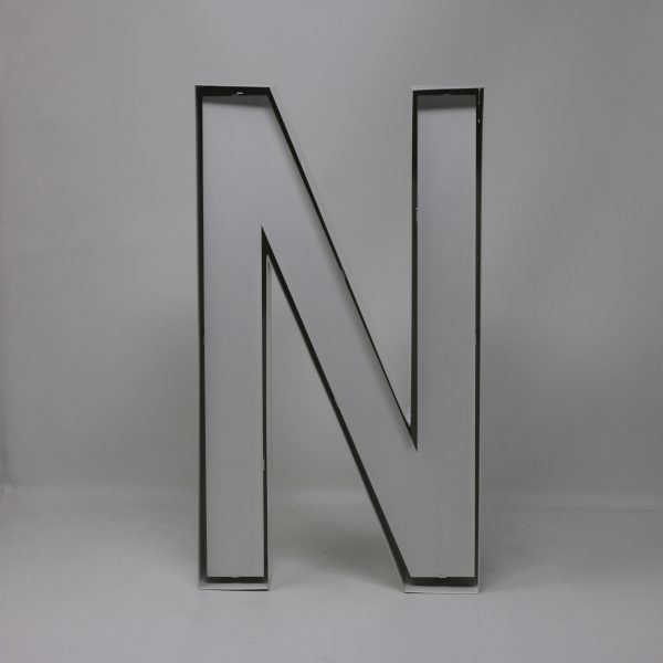 Quizzy Neon Style letter N