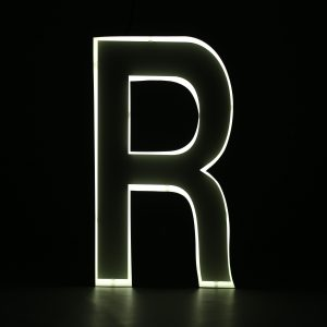 Quizzy Neon Style letter R