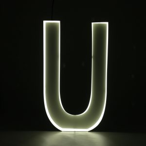 Quizzy Neon Style letter U