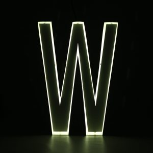 Quizzy Neon Style letter W