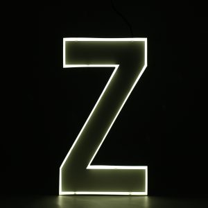 Quizzy Neon Style letter Z