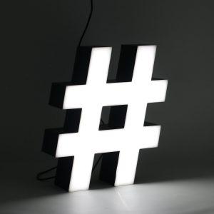 Led lighting symbol Hashtag (#)